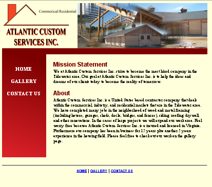 image: Atlantic Custom Services Inc. website